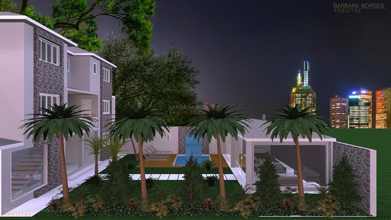 fotos de sala decorada projetos casas terrea