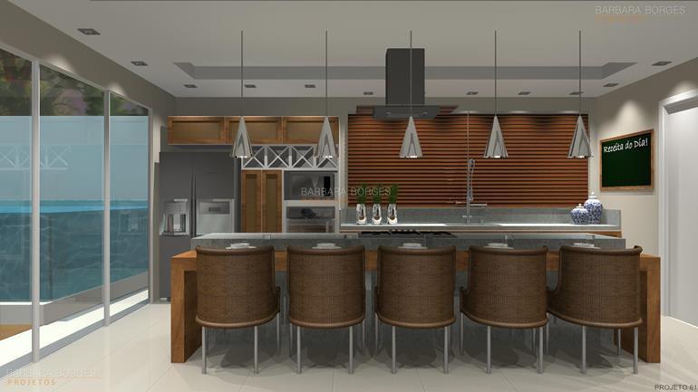 mesa redonda de jantar projetos cozinhas planejadas