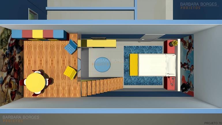 projeto apartamento quartos bebe decorados