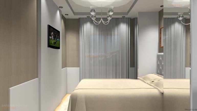 quarto apartamento pequeno quartos casal decorados