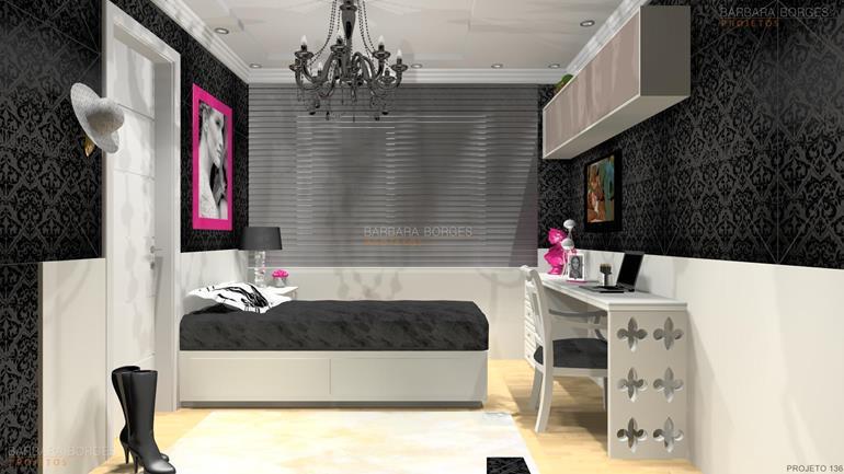 quartos menina quartos modernos