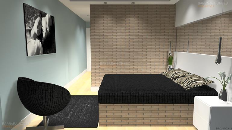 revestimentos parede quartos planejados