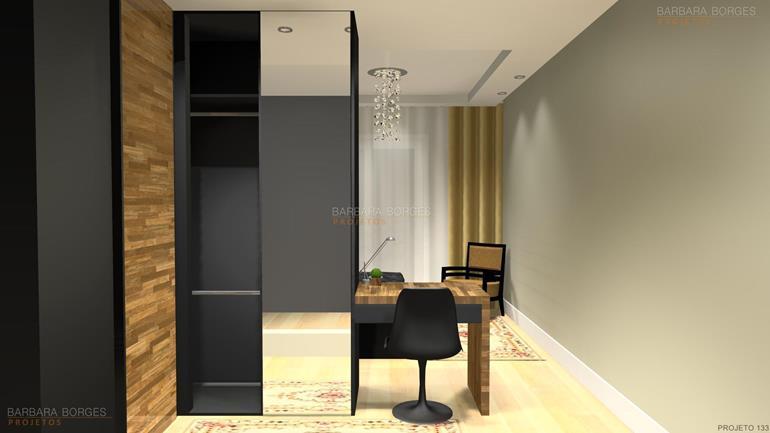 sala de jantar com sala de estar quartos planejados casal