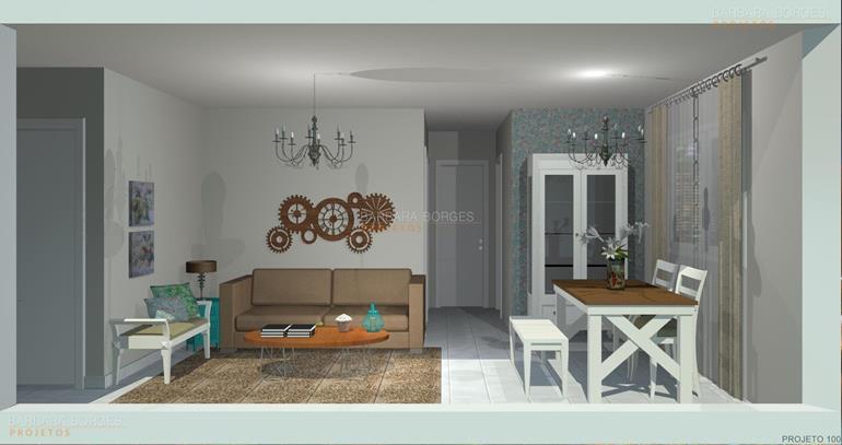 sala de jantar com sala de estar reforma apartamento