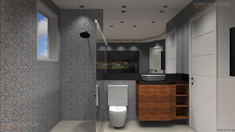 Reforma Banheiro Pequeno  Barbara Borges Projetos -> Banheiro Pequeno Projeto