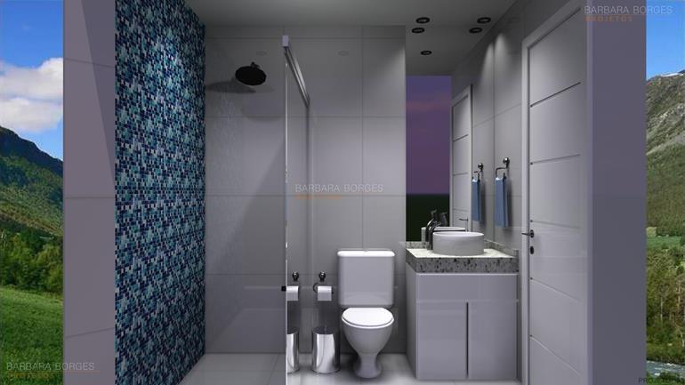 Reforma Banheiro Pequeno  Barbara Borges Projetos -> Banheiro Pequeno Reforma