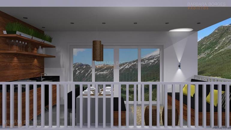 projetos de lofts revestimento churrasqueira