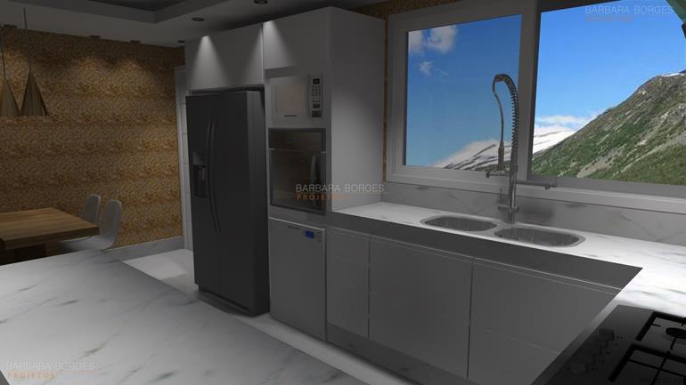 projetos de casas em 3d revestimento cozinha