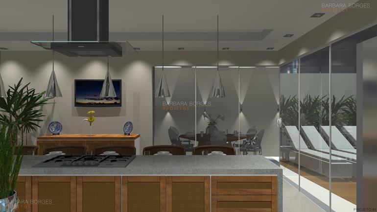 varanda gourmet projetos revestimentos cozinha