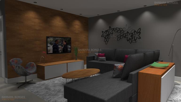 projeto construção casas sala decorada