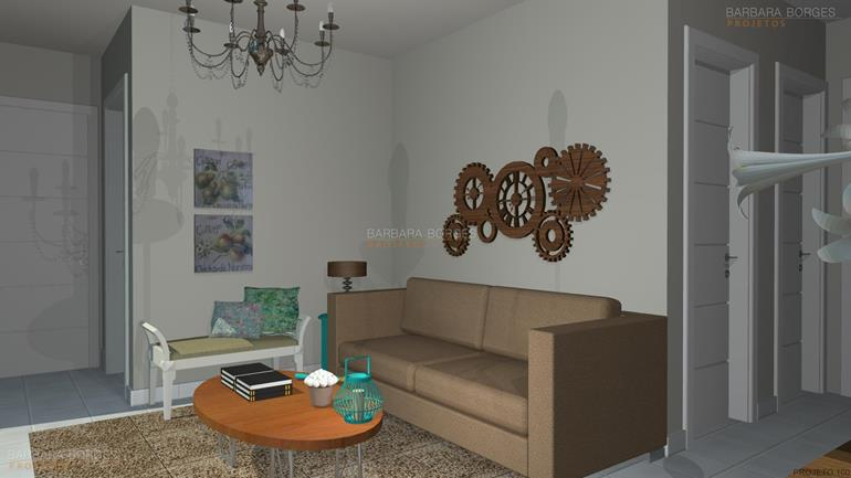 area de serviço planejada pequena sala decorada