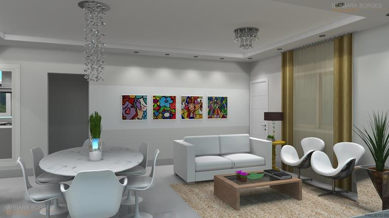 arquitetura e decoração de interiores sala jantar espelho