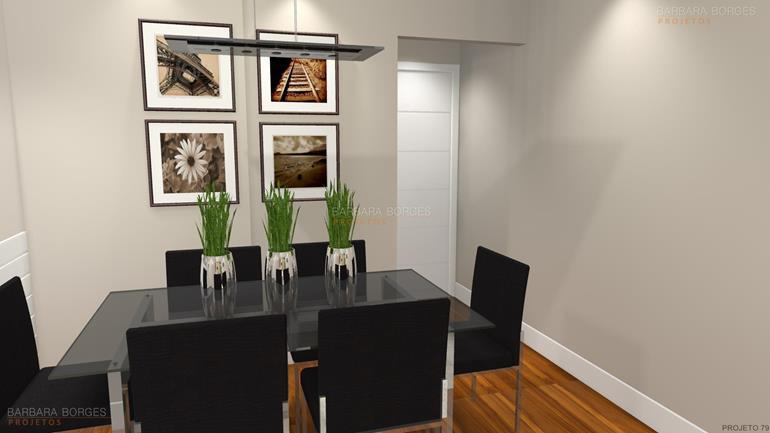 casa com decoração salas jantar