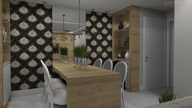 salas jantar modernas