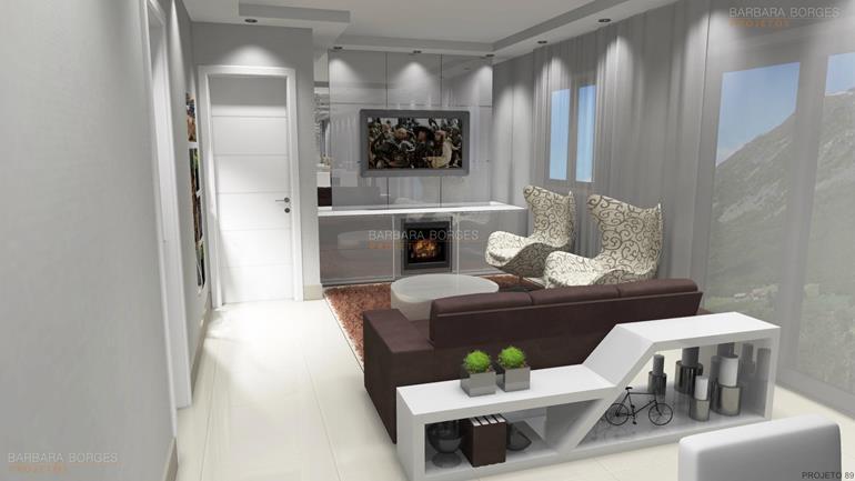 casas e decoração salas modernas