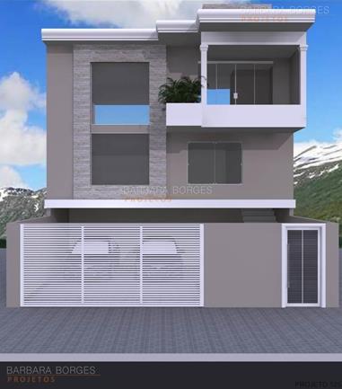 Sobrado geminado moderno 3 quartos barbara borges projetos for Fachadas para apartamentos pequenos