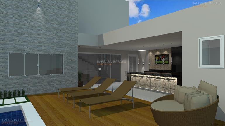 decorações de interiores tipos piscina casa